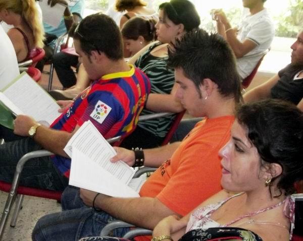 Jóvenes camagüeyanos en Congreso. Foto: Miozotis Fabelo