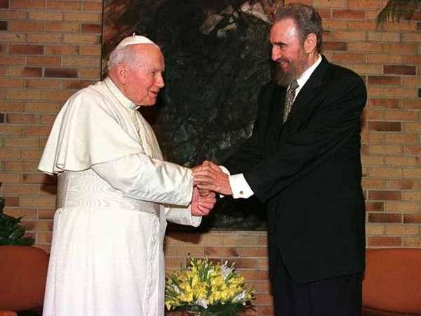 Fidel Castro y Juan Pablo II