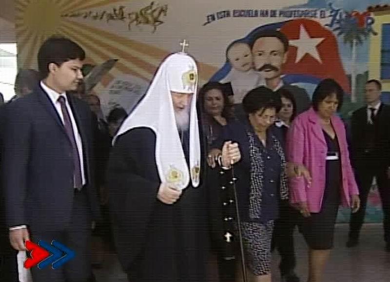 Patriarca Kirill recorre Escuela Especial Solidaridad con Panamá