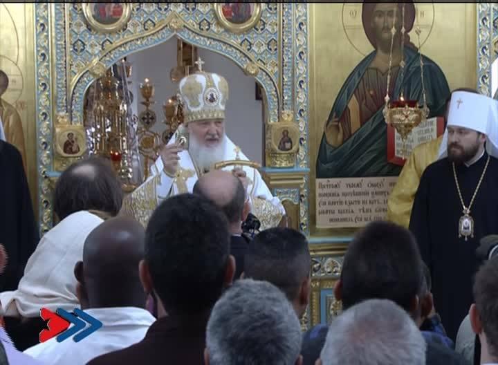 Divina Liturgia que el Patriarca de Moscú y de toda Rusia oficia en la Catedral Ortodoxa Rusa de Nuestra Señora de Kazán