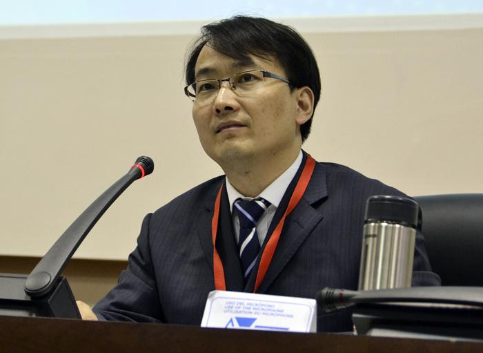 El director general adjunto de la Oficina de Políticas y Reglamentos para el Ciberespacio en China, Li Tao, llamó a construir en conjunto un ciberespacio pacífico, seguro, abierto y cooperativo. Foto: Abel Rojas Barallobre