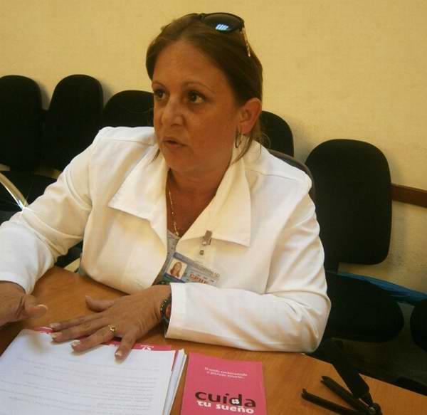 Licenciada de la Unidad de Promoción de Salud y Prevención de Enfermedades, Mabis Maraim Alem. Foto: Mireya Ojeda