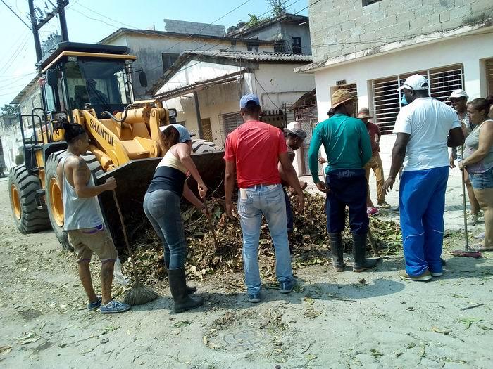 Masiva jornada de limpieza e higienización en San Miguel del Padrón (+Audio)