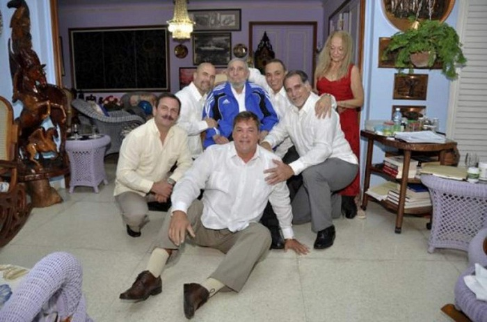 Los Cinco en su encuentro con Fidel