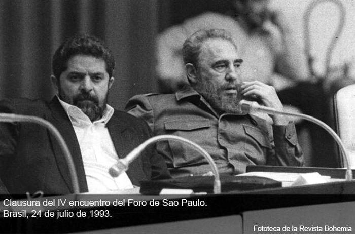 El luchador brasileño Luiz Inácio Lula da Silva y el Comandante Fidel Castro