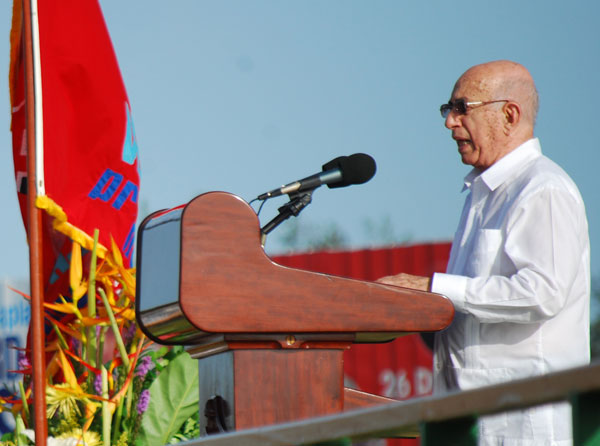 Machado Ventura en Villa Clara