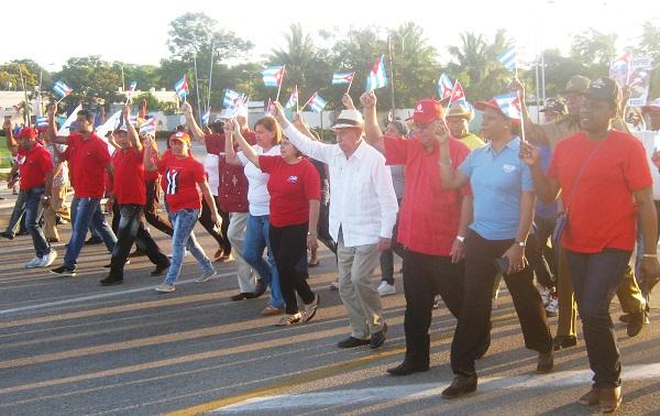 Destaca Machado Ventura organización y entusiasmo en la celebración del Primero de Mayo