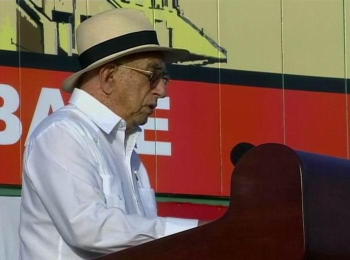 José Ramón Machado Ventura, Segundo Secretario del Partido y Vicepresidente de los Consejos de Estado y de Ministros, en las palabras centrales por el aniversario 64 de la gesta del Moncada celebrado en Pinar del Río.
