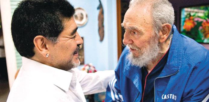 Diego Maradona in Cuba to Take Part in Fidel Castro Tribute