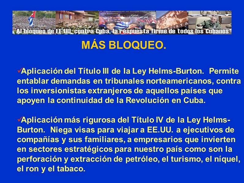 Una aberración jurídica llamada Helms-Burton (+Audio)