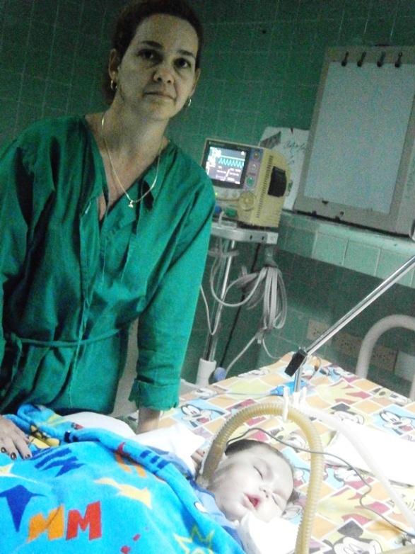 Samanta, Mauricio y Robertico, estampan servicio de hospital cienfueguero