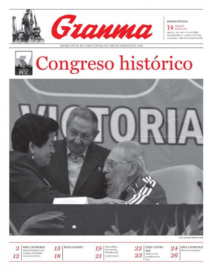 Diario Granma publicará edición especial dedicada al Séptimo Congreso del Partido.
