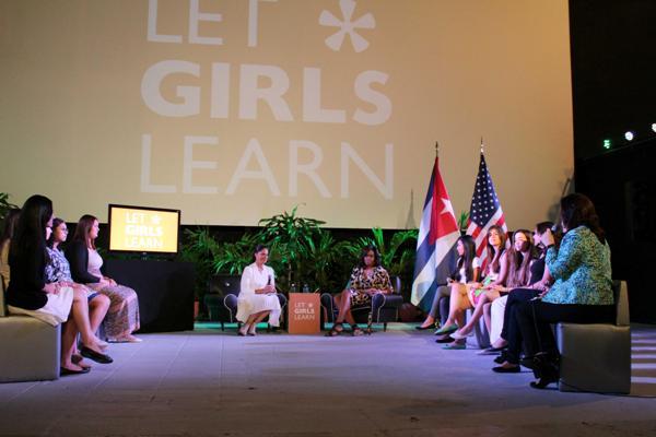 Conoció Michelle Obama sobre experiencias educacionales cubanas