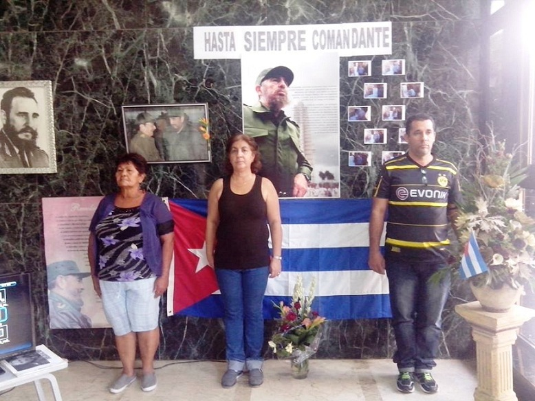 Tributo al Comandante en Fidel Castro en el Tribunal Provincial de La Habana