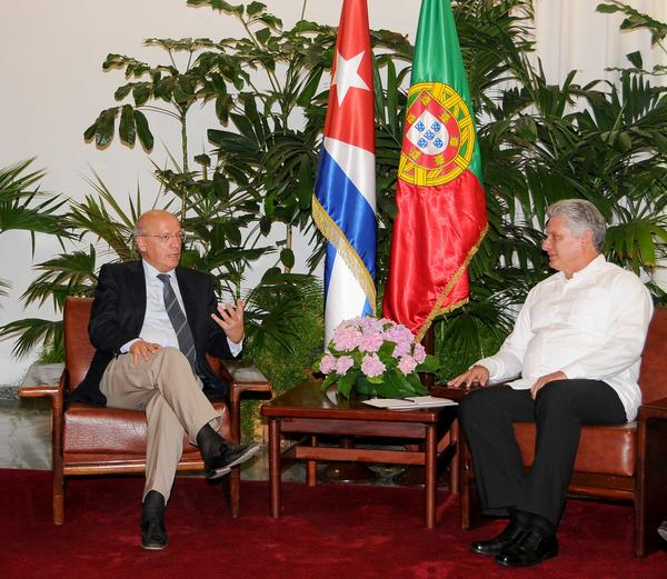 Diaz Canel Meets with FM of Portugal