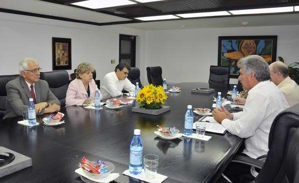 First VP Diaz-Canel Receives ECLAC Executive Secretary