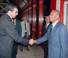 First VP Machado Ventura in Uruguay for President-Elect Jose Mujica's Inauguration