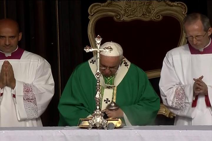 Misa que oficia hoy el Papa Francisco en la Plaza de la Revolución José Martí, de La Habana