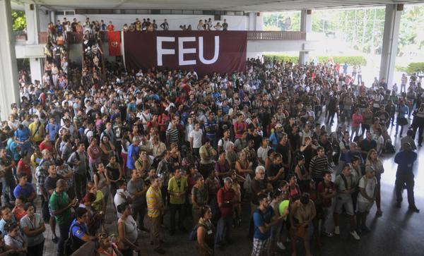Rechaza comunidad universitaria subversi�n contra Cuba (+Audio y Fotos)