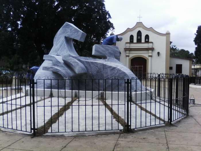 Monumento Nacional a la Campaña de Alfabetización de Melena del Sur en proceso de restauración  Foto: Elvis Gil