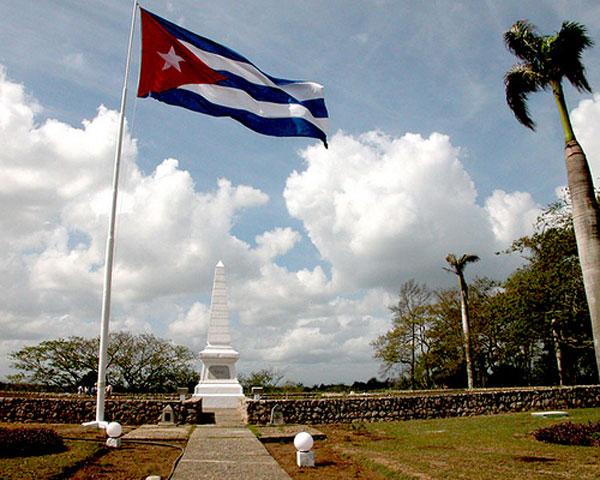 Monumento actual en Dos Ríos