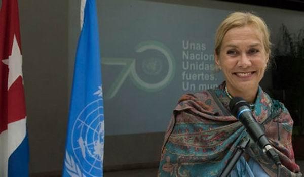 Myrta Kaulard, Coordinadora Residente de las Naciones Unidas en Cuba.