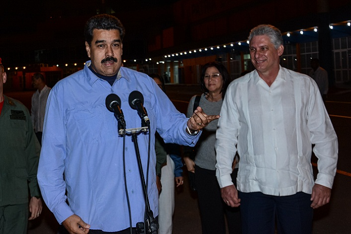 Realiza visita oficial a Cuba presidente venezolano Nicolás Maduro (+Audio)