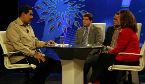 Entrevista del Presidente de Venezuela Nicolás Maduro con Cubadebate, Granma y la TV cubana. 30 de enero de 2014. Foto: Daylén Vega
