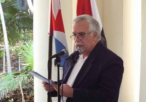 En nombre del ICAP y la Unión Árabe de Cuba, el Doctor Norberto García, condenó todo mecanismo de injerencia extranjera que impida la solución del conflicto en Siria. Foto Abel Rojas