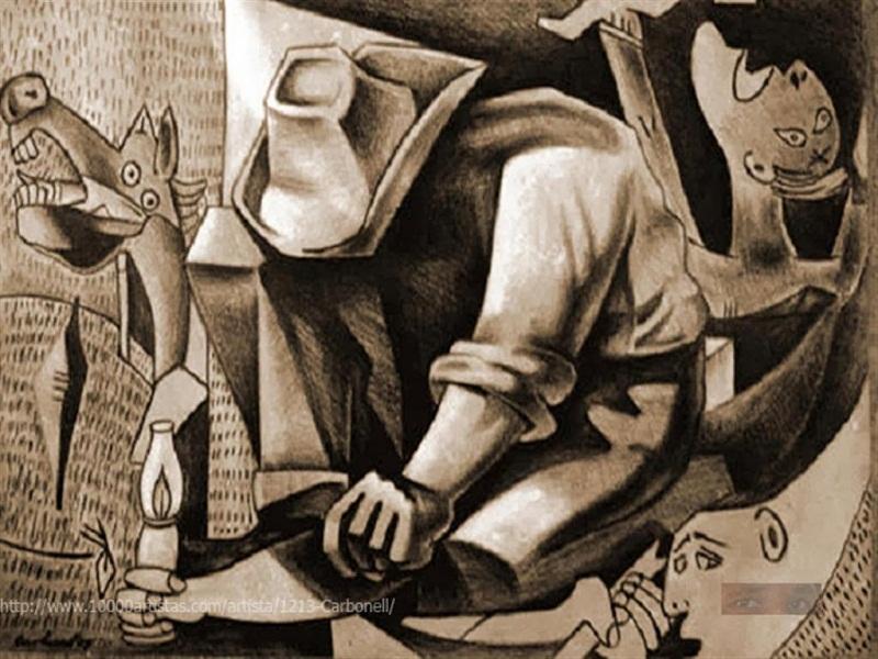 Frustraciones(2009) Nueva visión de Guernica. Autor: Ivan Carbonell Guerra ( Cuba )