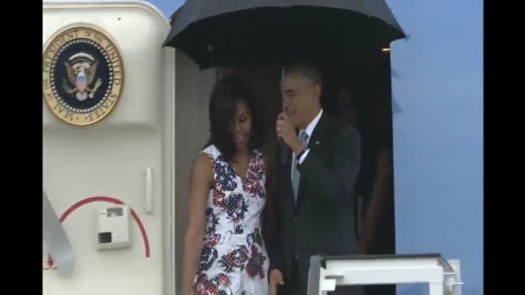 Presidente Barack Obama ya está en territorio cubano.