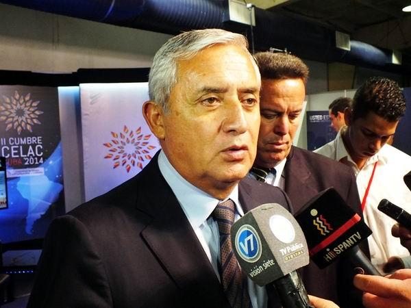 Otto Pérez Molina: la II Cumbre de la CELAC ha sido un encuentro trascendental. Foto: Abel Rojas Barallobre