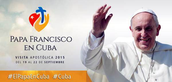 El Papa Francisco será recibido el sábado 19 de septiembre y el lunes 21 en La Habana y Holguín, respectivamente y será despedido el martes 22 en Santiago de Cuba.