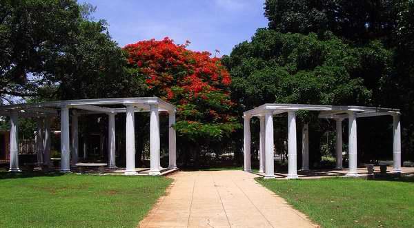 Parque Emiliano Zapata Salazar ubicado en el municipio Playa en La Habana, Cuba. Foto: Abel Rojas.
