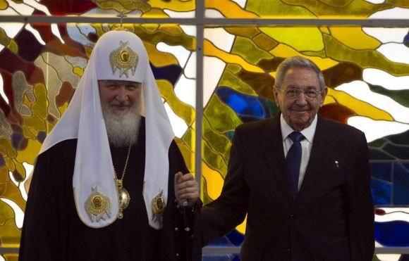 Encuentro del Presidente Raúl Castro y del Patriarca Kirill en el Palacio de la Revolución de La Habana. Foto: Ismael Francisco