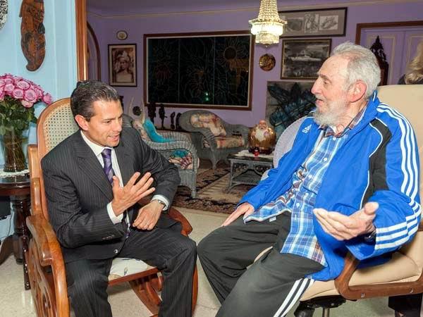 Recibió Fidel visita de Enrique Peña Nieto, presidente de México. Foto: Alex Castro