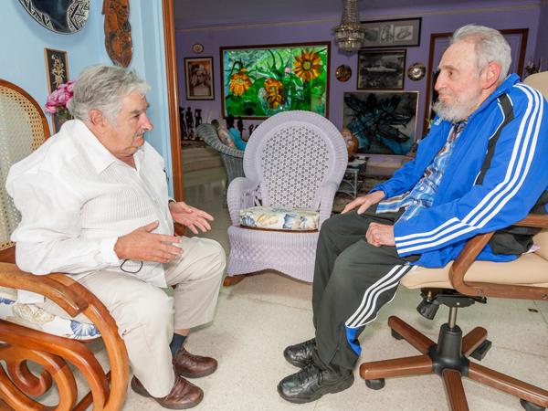 Recibió Fidel a José Mujica, presidente de la República Oriental del Uruguay. Foto: Alex Castro