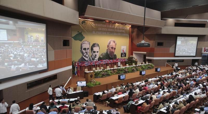 Comenzó el VII Congreso del Partido Comunista de Cuba. Foto: Juvenal Balán