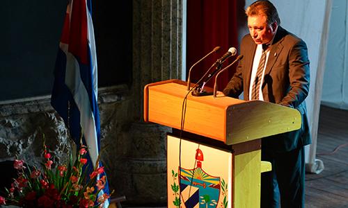 Sesión Solemne en Ciego de Ávila por los 40 años del Poder Popular