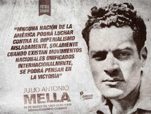 Jóvenes cubanos honrarán a Julio Antonio Mella