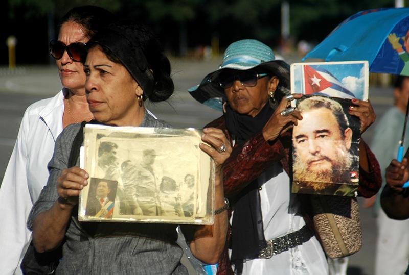 Sentido homenaje a Fidel. Foto: Sergei Montalvo Arostegui