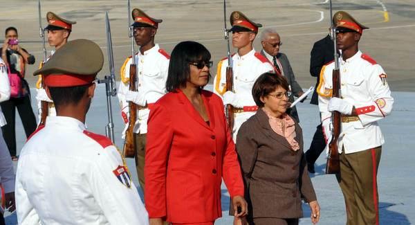 Portia Simpson Miller, Primera Ministra de Jamaica, arribó a Cuba para participar en la II Cumbre de la Comunidad de Estados Latinoamericanos y Caribeños (CELAC). Foto: Marcelino Vázquez.