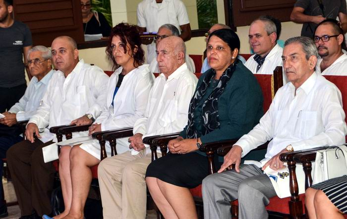 Presidencia del acto por el Aniversario 55 del Instituto de Ciencias Básicas y Preclínicas Victoria de Girón. Foto: Marcelino Vázquez