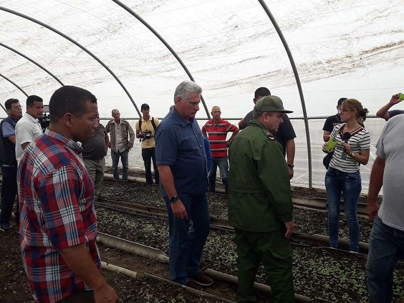 President Díaz-Canel checks on recovery actions after hurricane