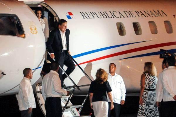 Juan Carlos Varela Rodríguez, Presidente de la República de Panamá, a su llegada al aeropuerto internacional José Martí, en La Habana, el 9 de septiembre de 2015. AIN FOTO/Abel PADRON