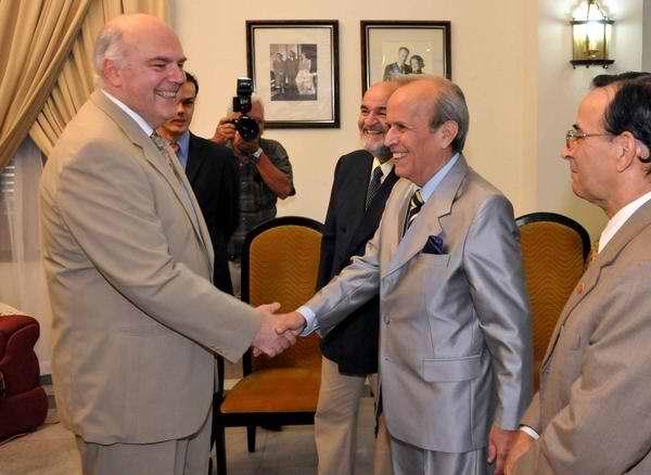 Agradece Alarcón solidaridad con Cuba a vicepresidente del Parlamento belga