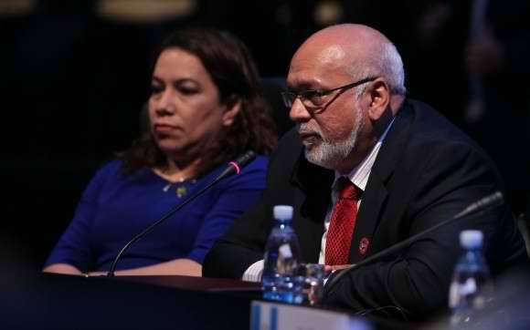 Presidente de Guyana, Donald Rabindranauth Ramotar durante la II Cumbre de la Celac. Foto Ismael Francisco
