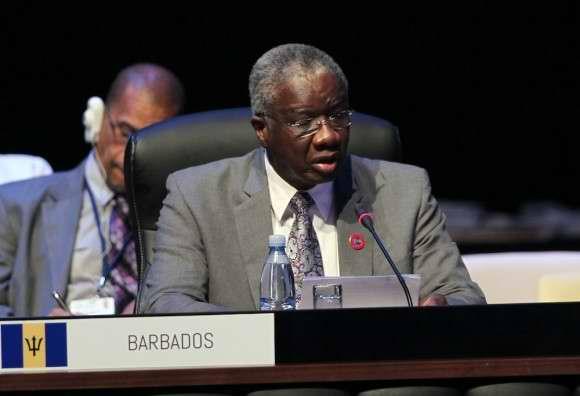 El Primer Ministro de Barbados, Freundel Stuart, en CELAC. Foto: Ismael Francisco