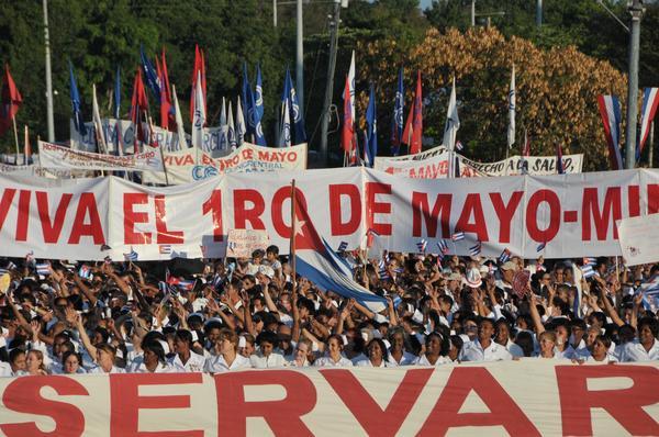 Cientos de amigos participarán en actividades en Cuba por el Primero de Mayo. Foto: Mireya Ojeda