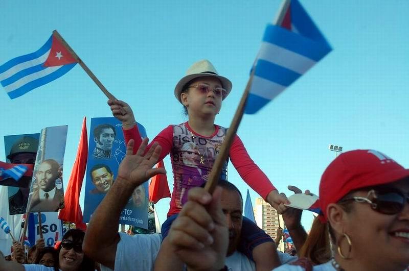 Imágenes del 1ro. de Mayo en Holguín